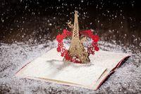 Wholesale Two color High Class D Wedding Invitations Red Eiffel Laser Cut Wedding Card Invitation