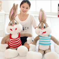 baby bugs bunny - Hot Sale39 in M Super Kawaii Cute Lovely Bunny Rabbit Plush Toys Bugs Bunny Stuffed Toys Baby Toy Birthday Gift Childs Gift