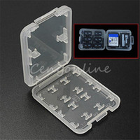 Wholesale 8 in High Quality Plastic Micro for SD SDHC TF MS Memory Card Storage Case Box Protector Holder order lt no track