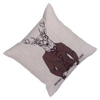 Cheap Chic Pillow Case Home Pillow Cover Business Suit Deer Pattern Cushion Case Nice Bedding Supplies EHE107-4*1