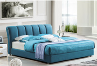 solid wood bedroom set - CLOTH ART BED MODERN STYLE SKY BLUE SIMPLE FASION DOUBLE PERSON WASHABLE HIGH GRADE GOOD QUALITY CM B322D