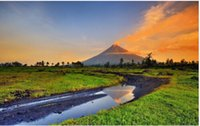 animals philippines - Custom x75cm Poster Nice Bedroom Decor Fashion Wall Sticker philippines mayon park mayon volcano mountains Poster