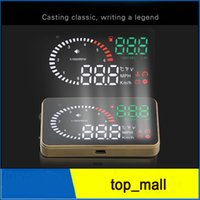 Wholesale X6 quot Car HUD Head Up Display OBD Speed Warning System Fuel Consumption Car HUD Head Up Display
