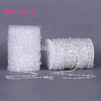 door beads - 2Rolls pc Clear pc Iridescent mm Acrylic Crystal Bead Garland String Wedding Favor Decoration Window Door Curtain