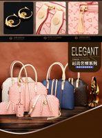 ags fashion - 4pcs set New Fashion Women s Handbag Bag Purses PU Leather Shoulder Bags Girls Cheap Four piece Messenger Totes ags