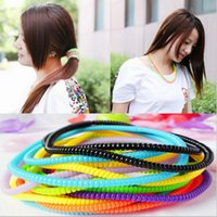 baby telephone - cm Gum telephone wire elastic Silicone rubber bands for hair elastico de cabelo hairband hair accessories for women baby girls
