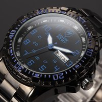 aries dating - Shark Army ARIES Series Auto Date Display Calendar Black Blue Outdoor Quartz Movement Clock Full Steel Men Sport Watch SAW093