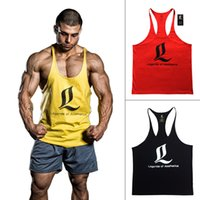 gym vest - Bodybuilding Stringers Tank Top Men Golds Gym Shark GASP LOA Fitness Singlet Vest Muscle Shirt Undershirt Sport Clothes Gymshark