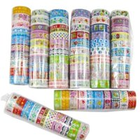 Wholesale 2015 New rolls set of kawaii lovely deco cartoon tape scrapbooking adhesive paper sticker PVC O1C Christmas Gift LFT