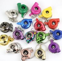 air figure - Turbo KeyRing Keychains new style Rotating blades fashion car keychain Personality Alloy Air Blower Turbine Turbocharger Sleeve Bearing