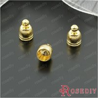 Cheap (27807)Cord End Caps for Leather Cord and Suede Leather Tassel Charms Making inside:5MM Gold Copper Wire Caps 50PCS