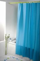 Wholesale 6 colour PEVA shower curtain liner without pattern pure colour X200cm come with plastic hook six colours for choice
