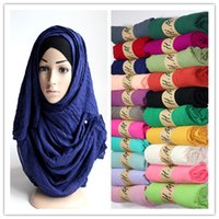 scarf material - winter newest soft cotton material colors big size plain fashion shawls scarf muslim hijab