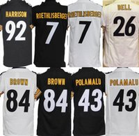 antonio mix - 2016 Youth Kids Jerseys Antonio Brown Le Veon Bell Ben Roethlisberger Stitched Jerseys Number Free Drop Shipping Mix Order Accept