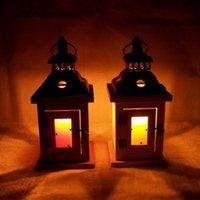 Wholesale retro wooden candlestick lantern Moroccan Mediterranean home furnishing boutique