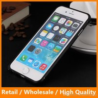 alloyed metal - Ultra Thin Aluminum Alloyed Metal Bumper Case Frame Cover Mobile Phone Protective for iPhone6 s Plus sPlus