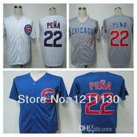 baseball carlos pena - 2015 New New Style Mne s Carlos Pena Jersey Baseball Chicago Cubs Jerseys Shirt Throwback Home Team Color Blue Grey White