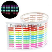 Wholesale 45x11cm Car Sticker Music Rhythm LED Colourful Flash Light Sound Activated Equalizer