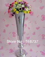 10pcs / lot rifornimenti di nozze tavolo vaso di fiori fiore / specchio in acciaio inox vaso H53cm