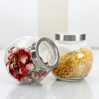 Wholesale 6 Glass jars and lids Condiments Container for Food Candy spice Tea storage box Cooking tools novelty households