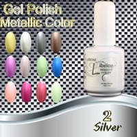 Wholesale 3 Metallic Soak Off UV LED Nail Gel Polish Total Colors For Metallic Nail Gel Silver Metallic Nail Gel Polish