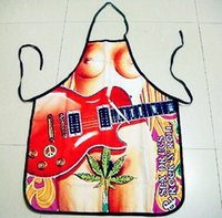 funny novelty aprons - Hot Novelty Funny Kitchen Sexy Guitar Girl Bar Cooking Aprons Party Fancy Dress For Gift