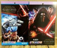 Wholesale 20 CM Star Wars armed white soldiers Jedi Darth Vader cartoon stickers book Variety sticker Children s prize Christmas gift