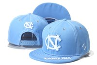 ncaa hats - Custom American North Carolina Tar Heels Football Caps Fashion UNC Basketball Sports Hats Cheap NCAA College Baseball Hip hop Trainer Cap