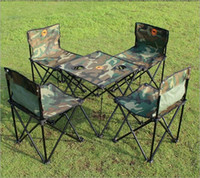 Wholesale Camouflage Tables And Chairs Outdoor Folding Tables And Chairs Piece Set Oxford Cloth Tables And Chairs Combination