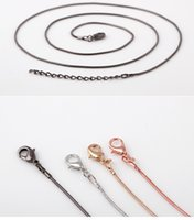 Wholesale Lady Fashion Jewelry Accessories silver or gold smooth snake chains Necklace hot sale chains for DIY Glass pendant lockets