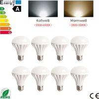Wholesale 8PCS W High Power Lighting Spotlight CREE E27 LED Chip Lamps Bulbs Bombillas Lampada White Warm Light Energy Saving V