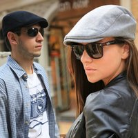 Wholesale Classic Vintage Men Women Beret Solid Flat Men Women Hat Casual Beret For Men and Women