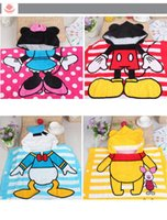 baby bathrobe - 2015 New Cotton Cute Print Baby Bathrobe Anmial Style Ladybug Kids Bathing Bath Robe with hat CM colors