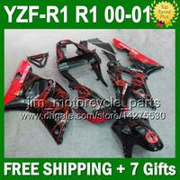bacardi black - 7gifts Fairing Red black For YAMAHA YZFR1 YZF R1 R1 YZF J99224 YZF R Red BACARDI YZF1000 YZF R1 Bodywork Kit