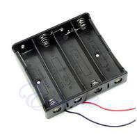 Wholesale 1pc New Plastic Storage Box Case Holder Black For Battery With
