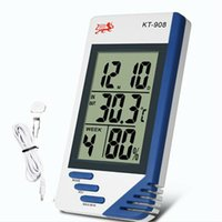Wholesale Moodeosa New arrival Digital Thermometer Hygrometer indoor outdoor function Humidity Meter Freeshipping