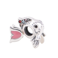 Wholesale silver jewelry sets Beads Big Hole Beads Heart Love sterling silver charms fit European Bracelets No50 D002