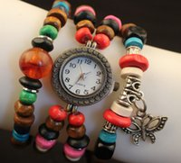 beaded butterfly ornament - watches Korean version of the national wind DIY beaded bracelet watch hot fashion classic watches beads butterfly ornaments series