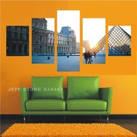 Cheap HD Unframed Scenery Modern Home 5 Panels Wall Decor Canvas Picture Art Print Painting Canvas Arts Framed For Living Room