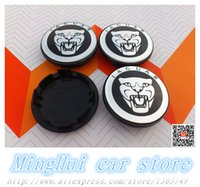 Wholesale 4pcs mm Jaguar car tuning logo car Wheel Center Hub Cap Wheel Dust proof Badge emblem covers Auto accessories