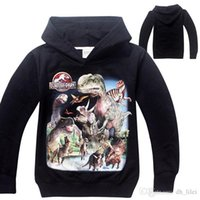 Wholesale Jurassic Park World Boy Spring Autumn Long Sleeve Hoodies Kids Cotton Casual Sport T Shirt Children Cartoon Movies Garments