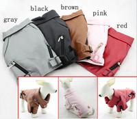 Wholesale Hot sale fanshion Leather dog coat Jacket zipper design pet clothes sizes available