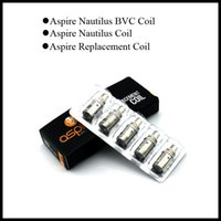 Cheap Aspire BVC Coils for Aspire BDC Atomizer CE5 BDC Atomizer ET BDC Atomizers CE5-S BDC ET-S BDC Dual Coils 1.6ohm 1.8ohm 2.1ohm bdc bvc coil