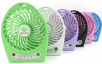 Wholesale Mini Fan Fans Cooling Portable USB Rechargeable Battery High Air Flow Speed Outdoor Camping Office Tent