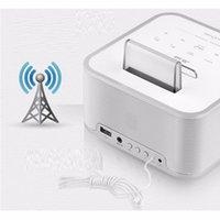 antique radio speaker - JB Lab BLUE CUBE BC Bluetooth Alarm Clock Speaker with Radio AUX wireless calls
