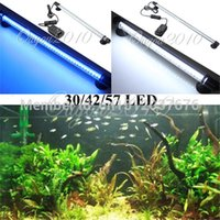 Wholesale Aquarium Fish Tank Accessories LED Light Blue White CM Bar Submersible Waterproof Clip Lamp AC V