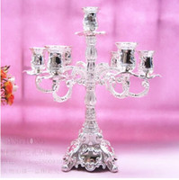 antique candle holder - 7 branch antique silver plated large decorative lanterns tall candle holders for wedding centerpieces candlestick ZT071
