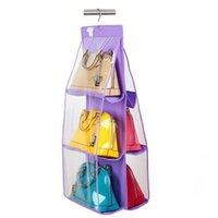handbag organizer - Organizer Bag Purple Color Can Hold The Bag In Different Size Good TPU Materials Handbag Closet Organizer with Metal Hook