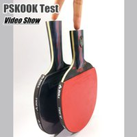 Wholesale Good Quality Pingpong Racket Table Tennis Racket Elastic Rubber Bat Shakehand and Penhold Grip Long Short Handle With Bag