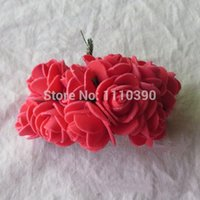 foam balls - 2 CM artificial PE flowers rose bouquets floral foam roses bridal bouquet diy accessories of wedding boutonnieres Kissing ball
